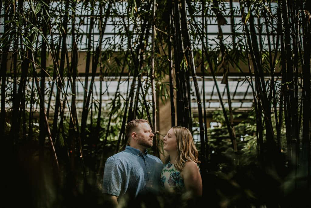 couple walking through longwood gardens
