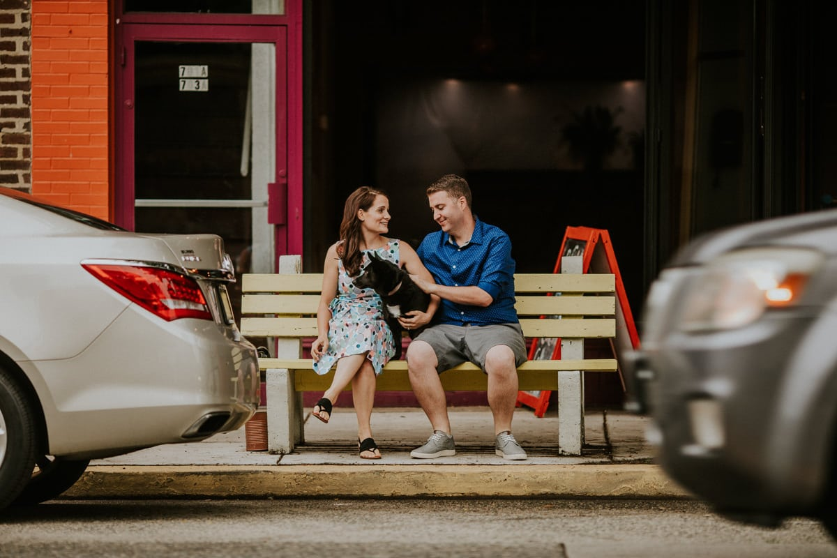 Downtown Collingswood Engagement Photos, Downtown Collingswood Engagement Session
