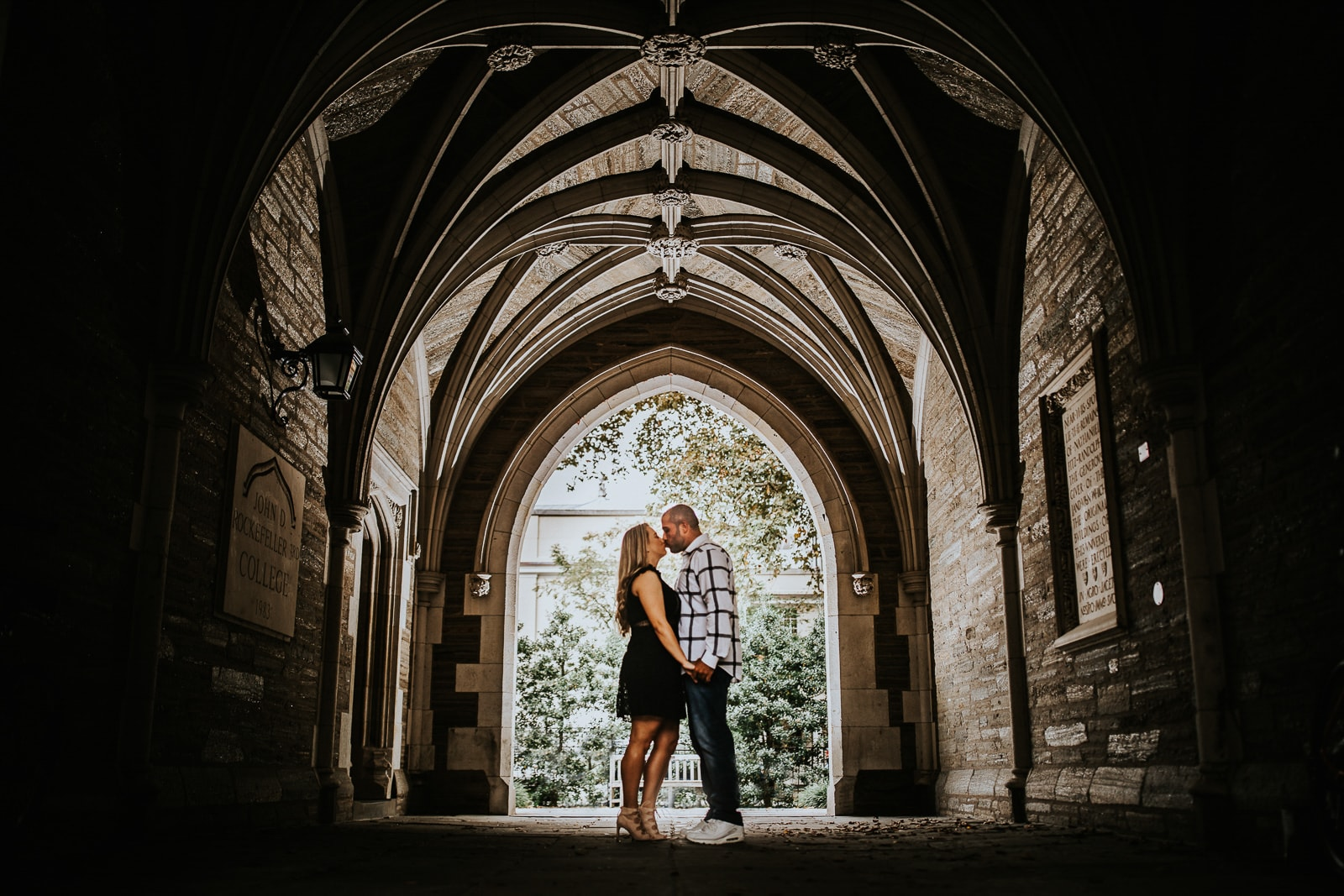 engagement photos at Princeton University