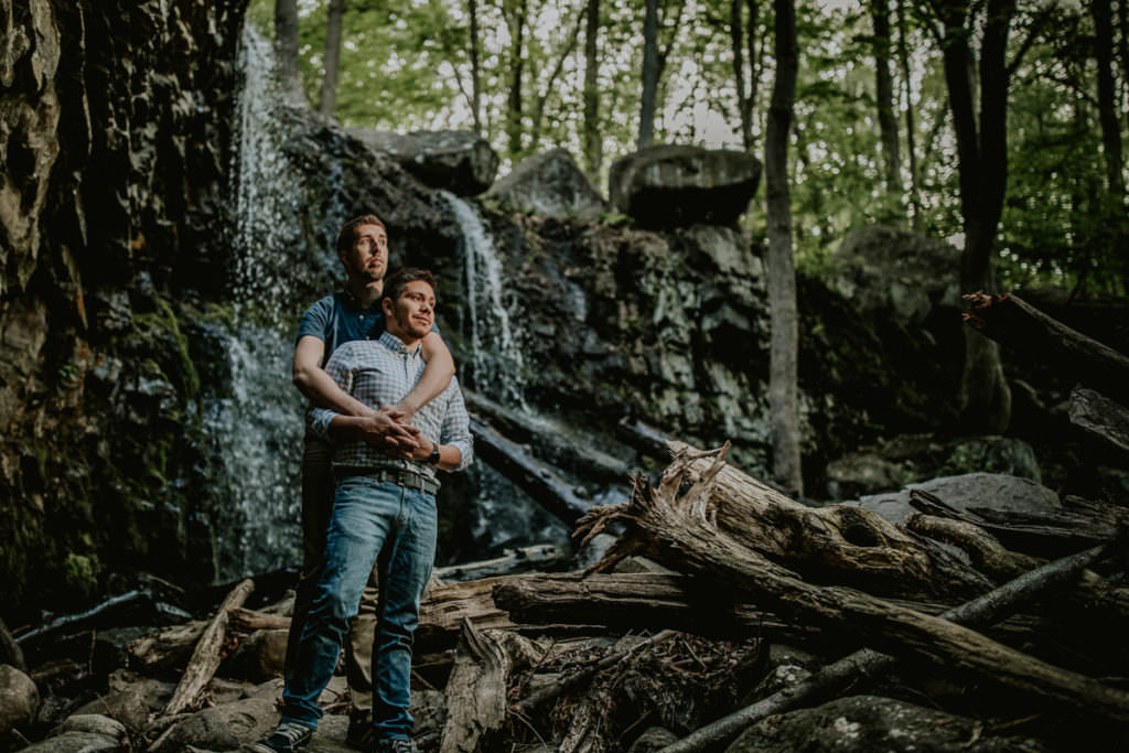 Ringing Rocks Engagement photos