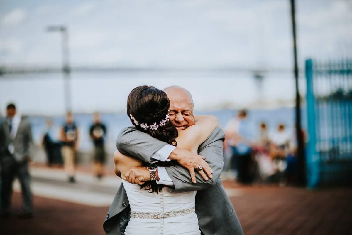 Big hug from dad