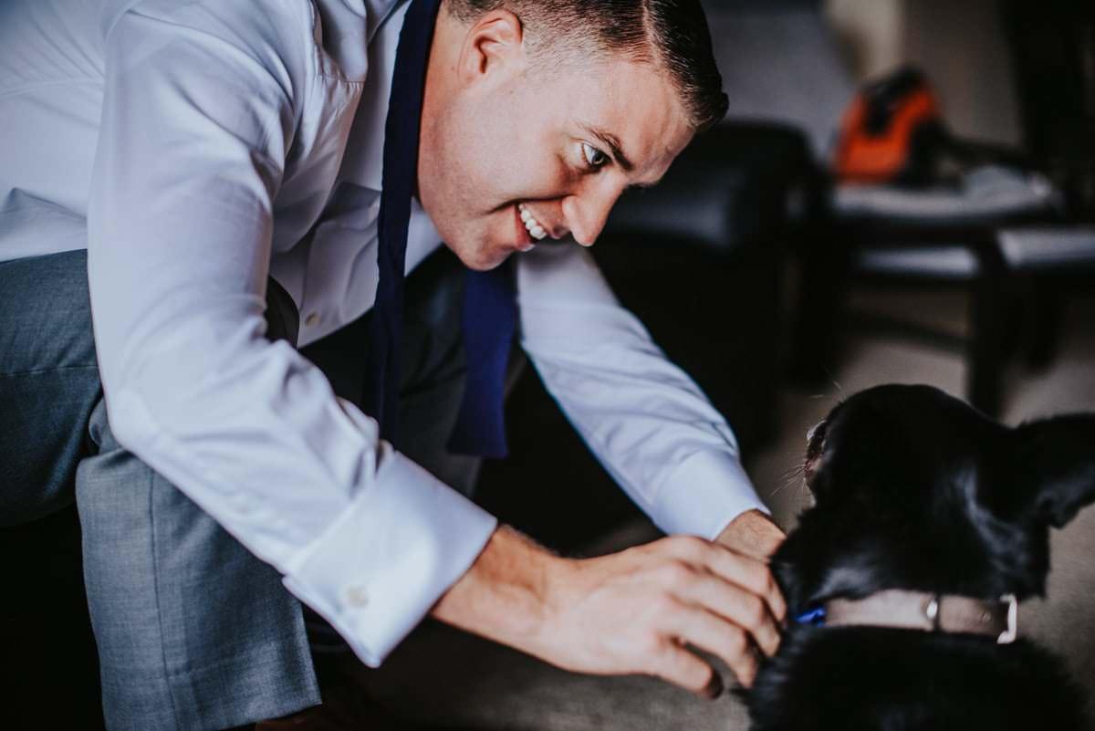 dog and groom