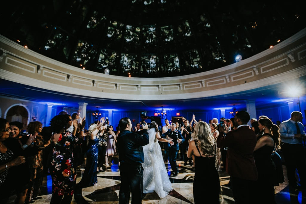The Merion skylight wedding