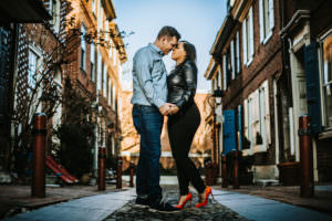 old city Philadelphia engagement photos