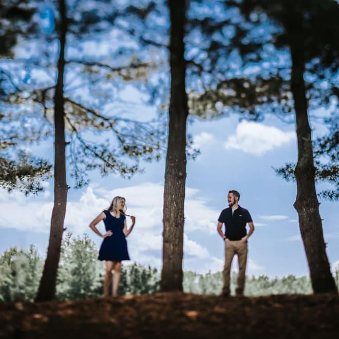 washington lake park engagement photos