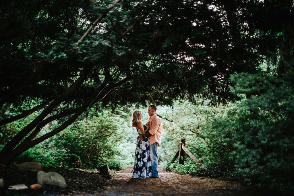 sayen garden engagement photos