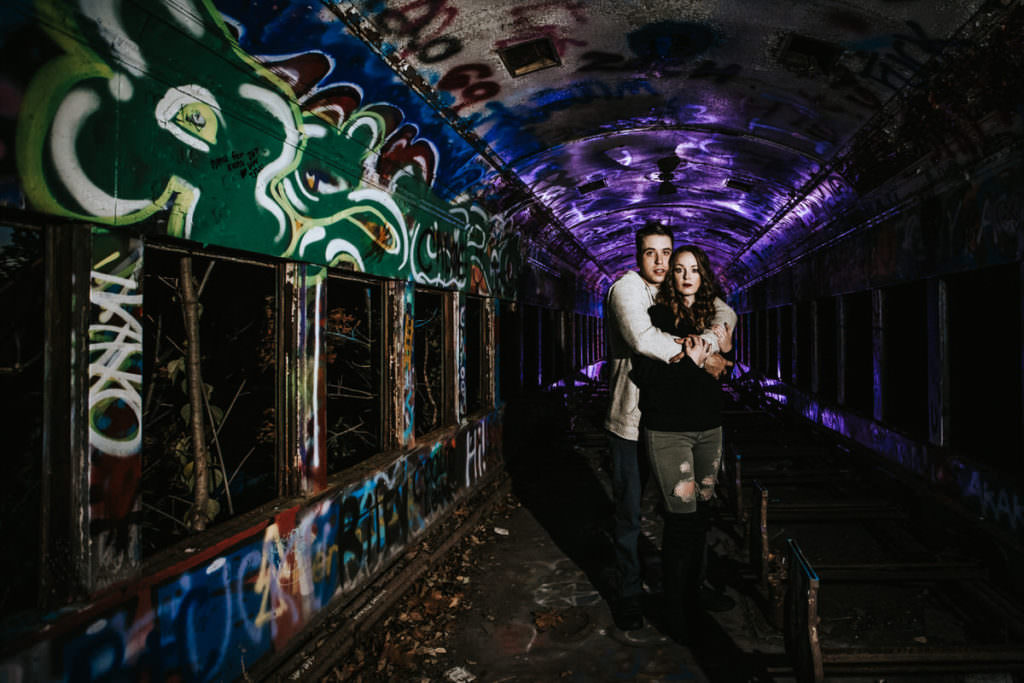 abandoned train yard engagement photos, Abandoned Train Yard Engagement Photos | New Jersey Wedding Photographer