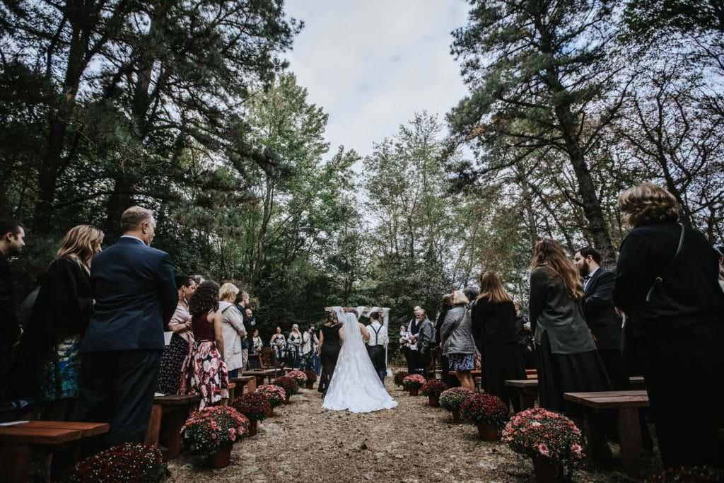 Outdoor wedding ceremony photos