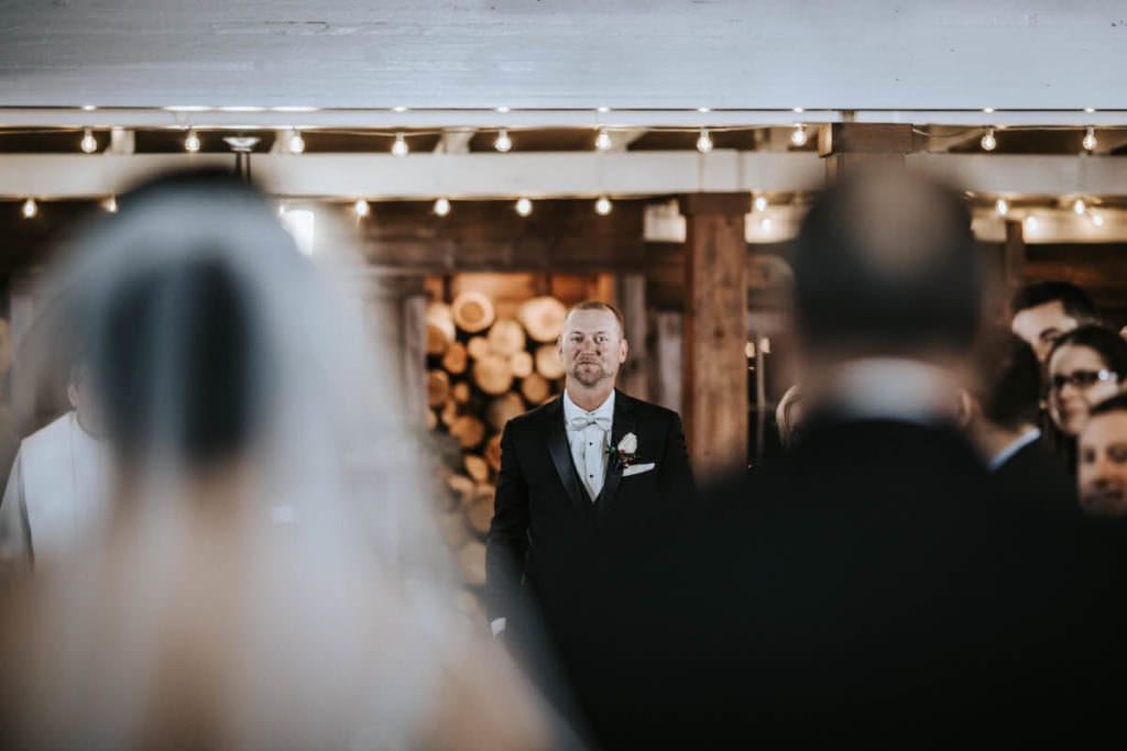 Hamilton Manor wedding barn ceremony