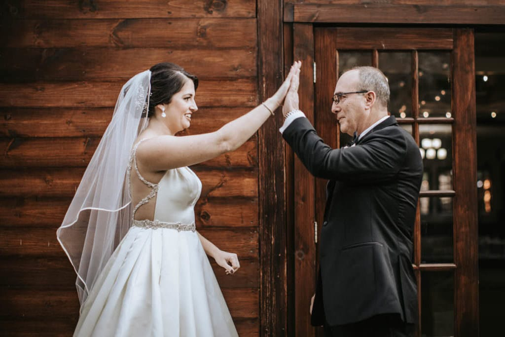 Hamilton Manor wedding first look with dad