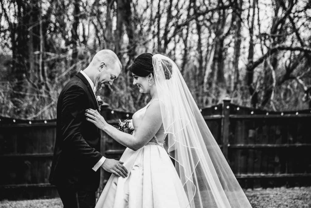 Hamilton Manor wedding first look