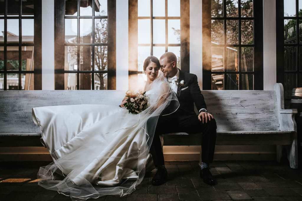 Hamilton Manor wedding bride and groom