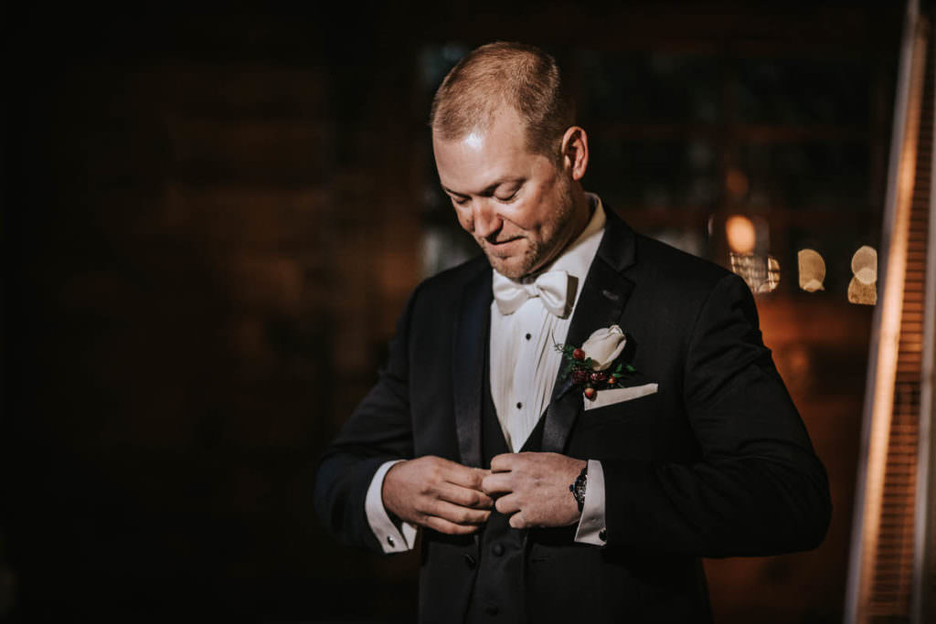 Hamilton Manor wedding groom