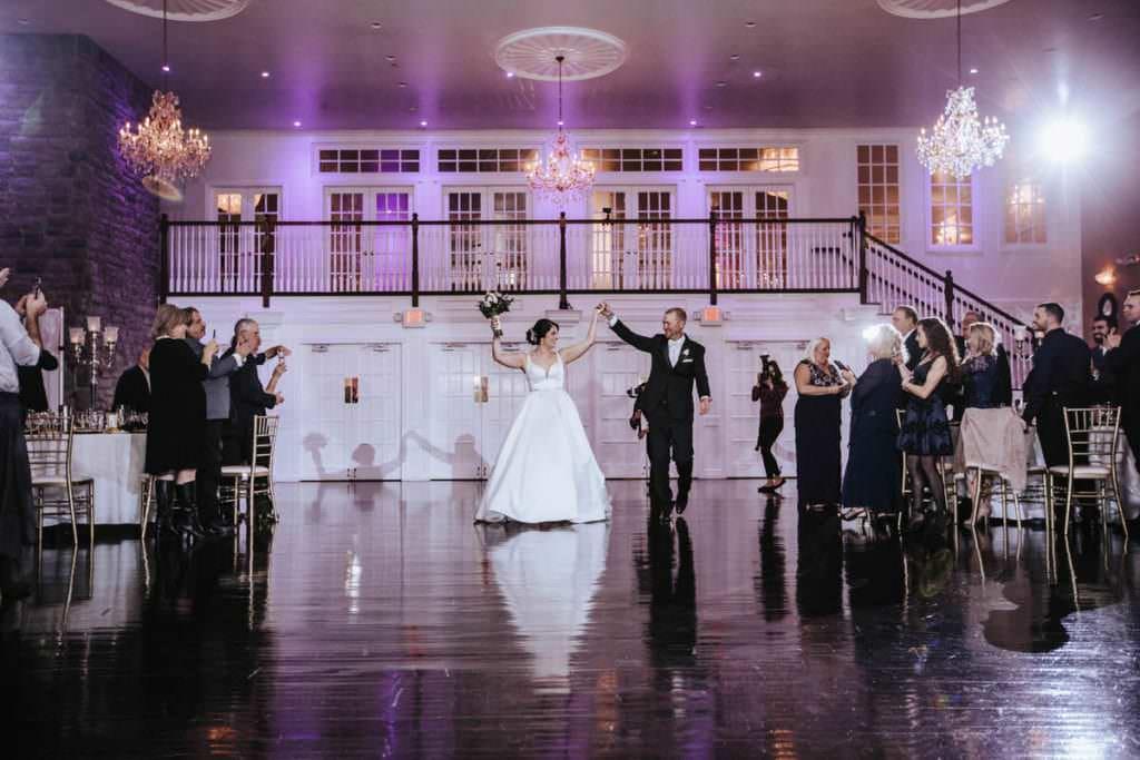 Hamilton Manor wedding reception