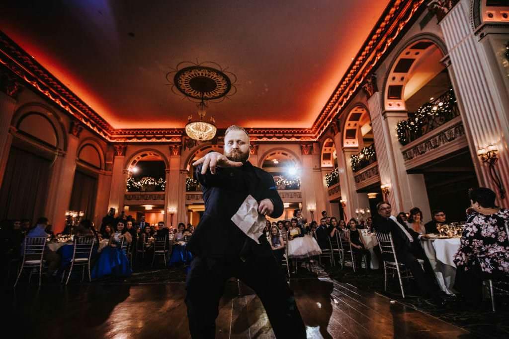Ballroom at the benwedding photographer