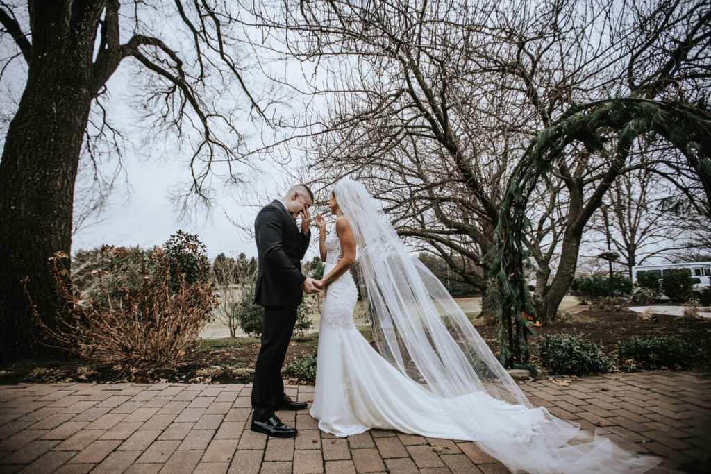 First look wedding photos