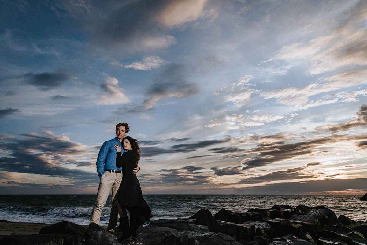 cape may engagement photos