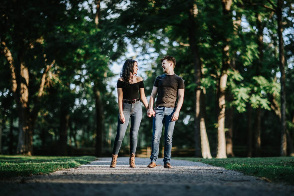 Allaire state park engagement photos