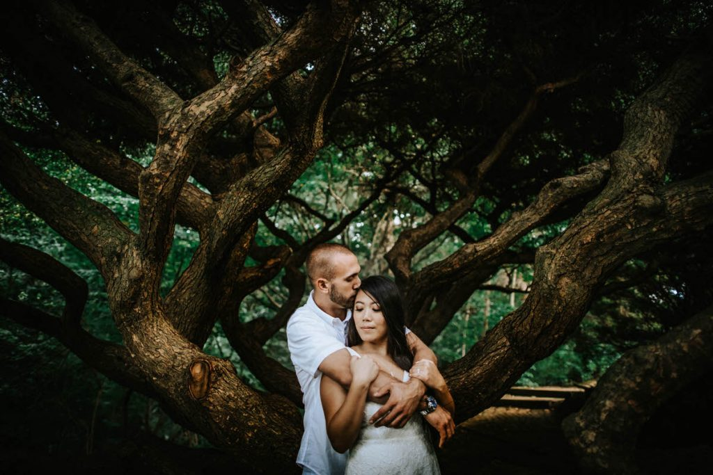 deep cut gardens engagement photos