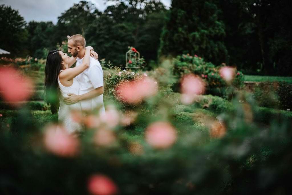 deep cut gardens engagement photos